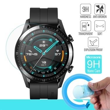 Microsonic Huawei Watch GT2 46mm Nano Cam Ekran Koruyucu Renksiz